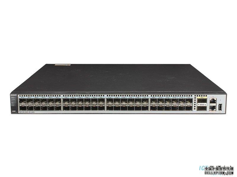 华为(HUAWEI)S6720-54C-EI-48S-AC交换机 万兆,48×10GE SFP+端口,2×40GE QSFP+端口